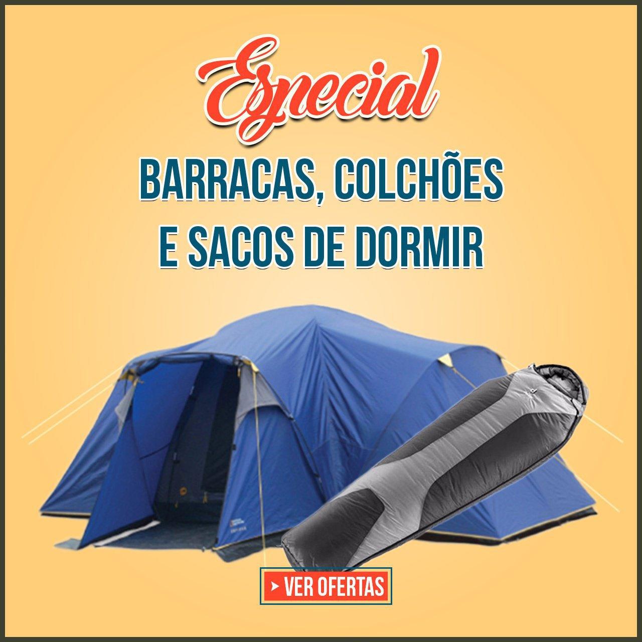 ESPECIAL BARRACAS, COLCHOES E SACOS DE DORMIR