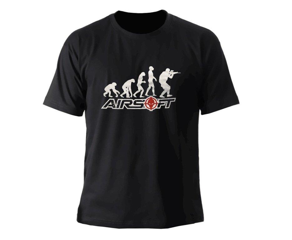Camiseta Estampada Airsoft Evolução Preta - Bravo