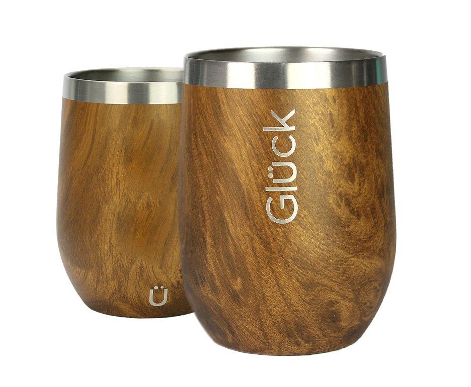 Copo Térmico para Vinho e Whisky Spirit 354ml Wood - Gluck