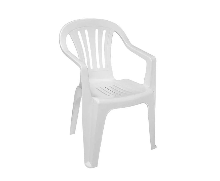 Cadeira Poltrona Plastica Reforçada Com Apoio De Braço - Mor