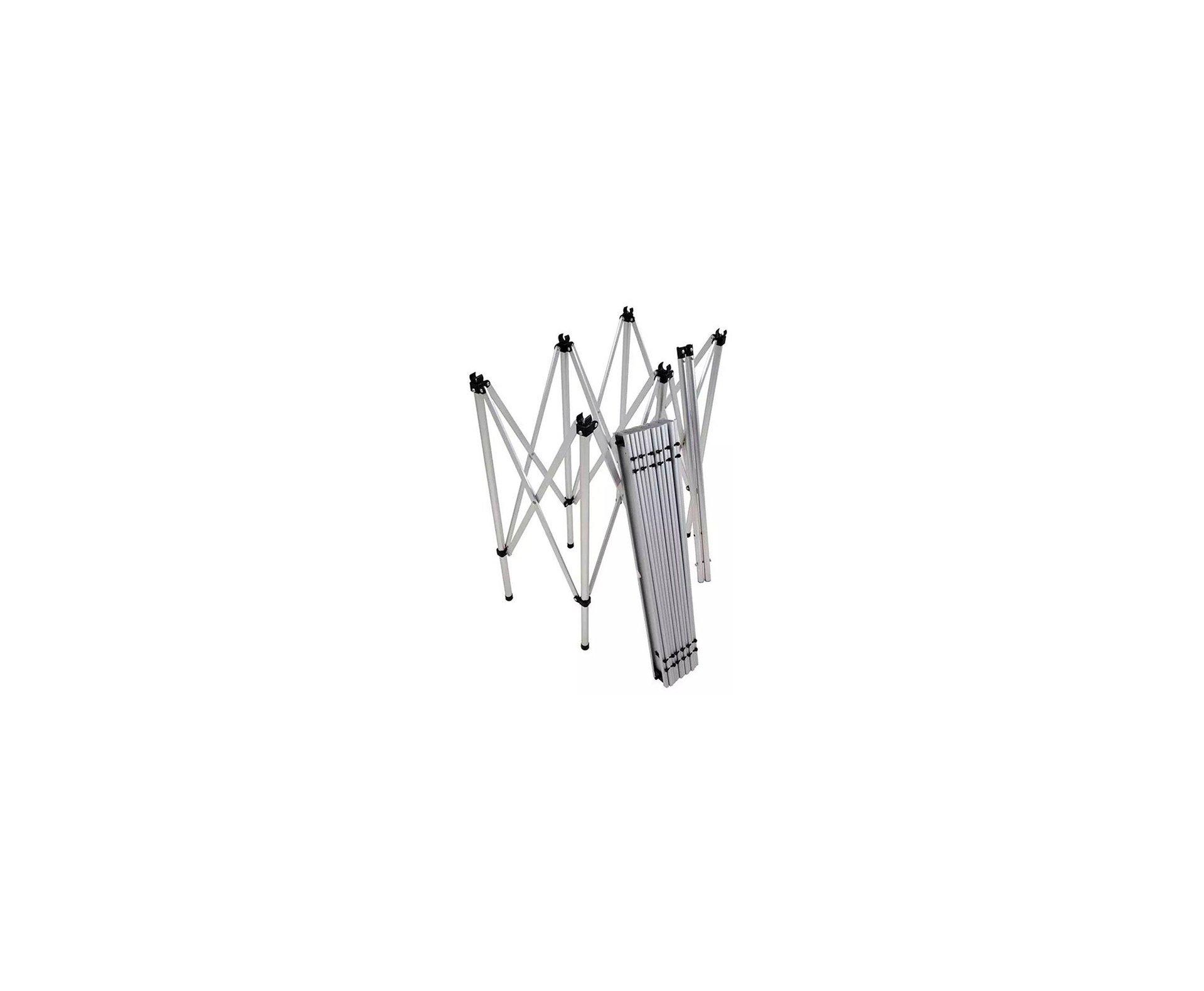 Mesa Dobrável Multiuso Em Alumínio 1,40m X 69,5cm