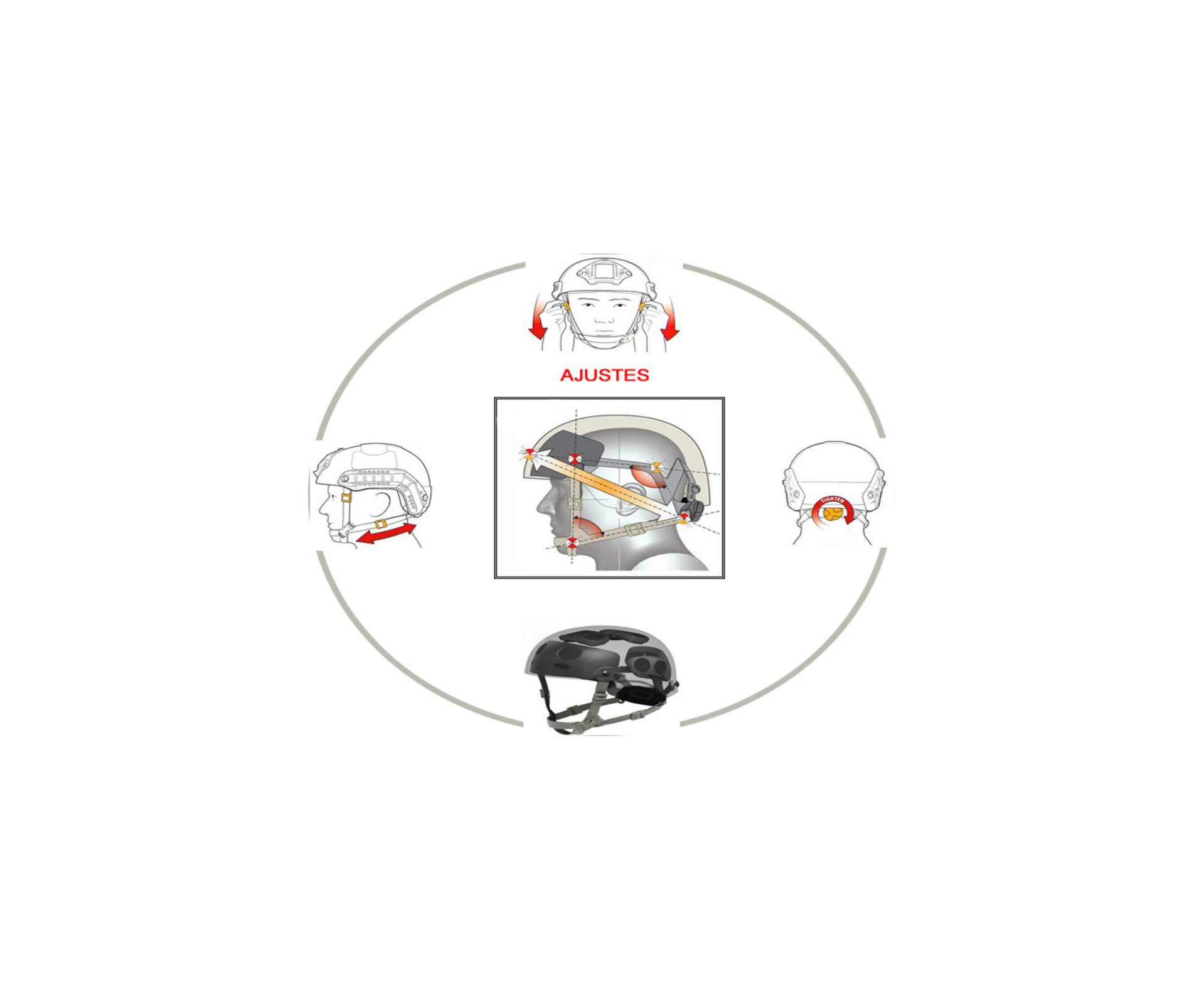 Capacete Tático Para Airsoft/paintball Mod Fast B Preto