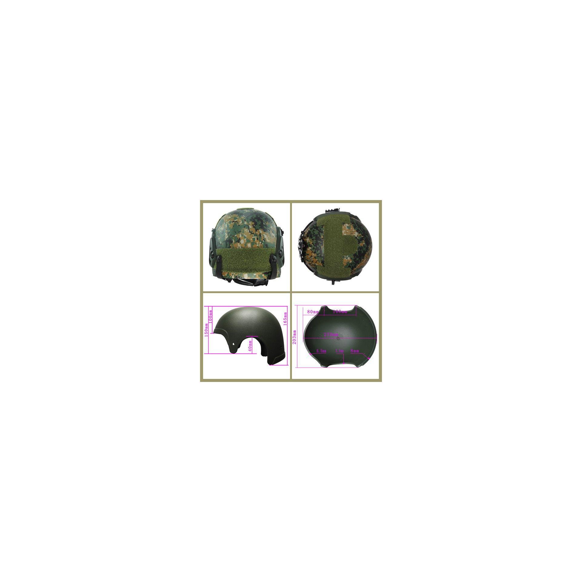 Capacete Tático Para Airsoft/paintball Mod Ibh X Woodland Digital
