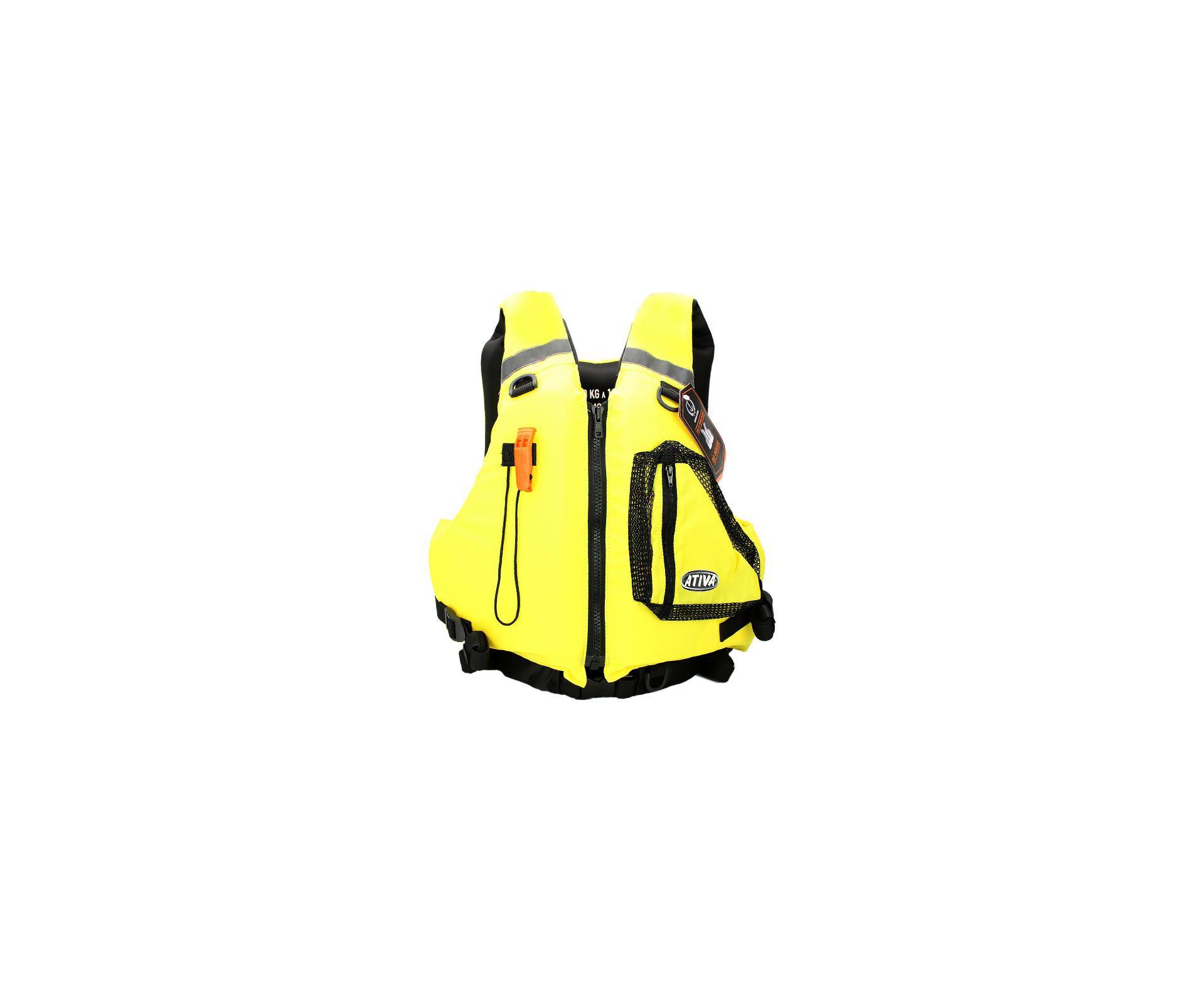 Colete Nautico Ativa Caiaque Homologado - Amarelo - Ativa