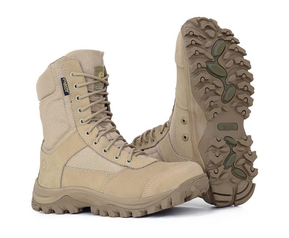 Coturno Bota Tatica Militar Lightness Confort 8627-25 Tan