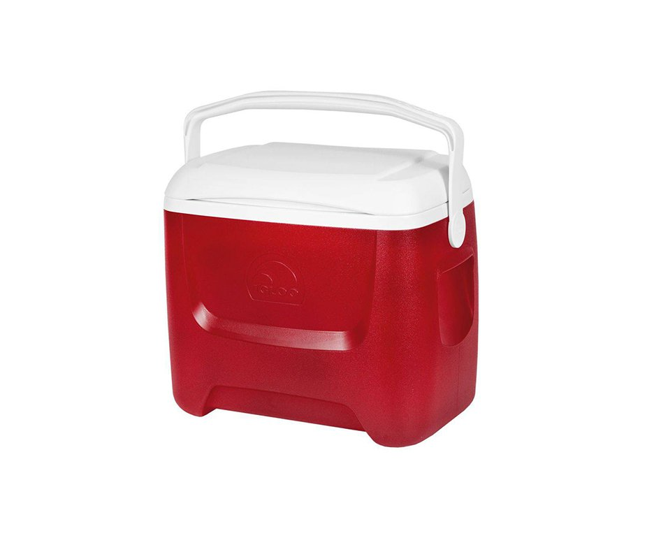 Caixa Térmica Cooler Igloo Usa 28qt 26,5l Vermelha Com Alça Transporte