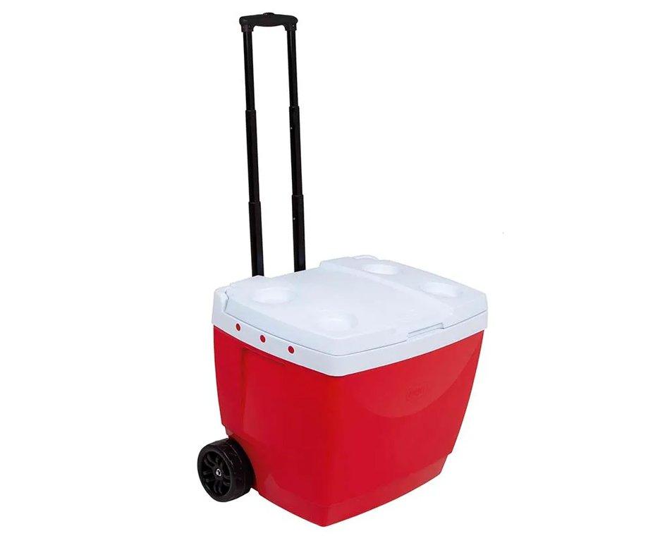 Caixa Termica Mor 42l Com Roda E Alça Transporte - Vermelha