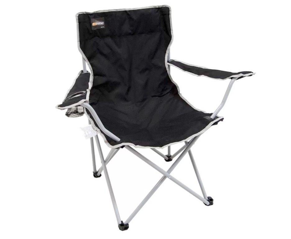 Cadeira Camping Alvorada Dobrável Preta - Nautika