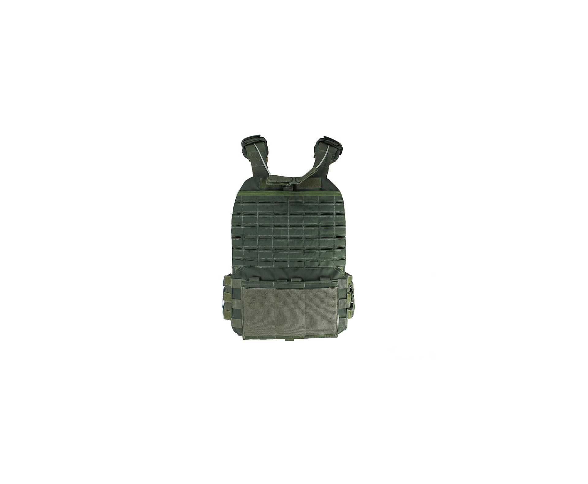 Colete Tático Hercules Plate Carrier Verde + Acessorio Mdc