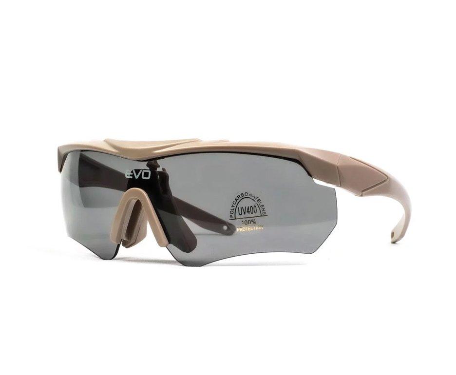 óculos De Proteção De Tiro G034tn Kit 3 Lentes Sport Glasses - Evo Tactical