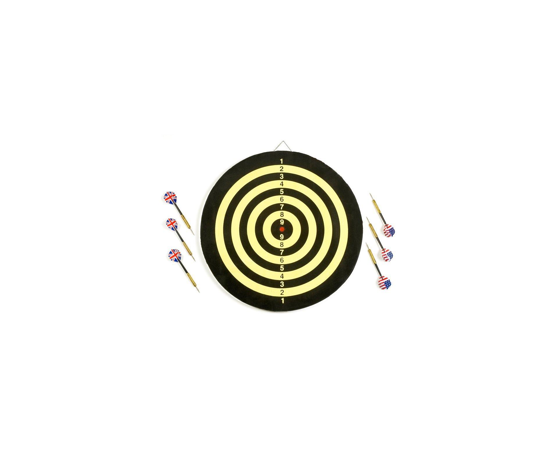 Jogo De Dardos Com Alvo E 06 Dardos - Rossi