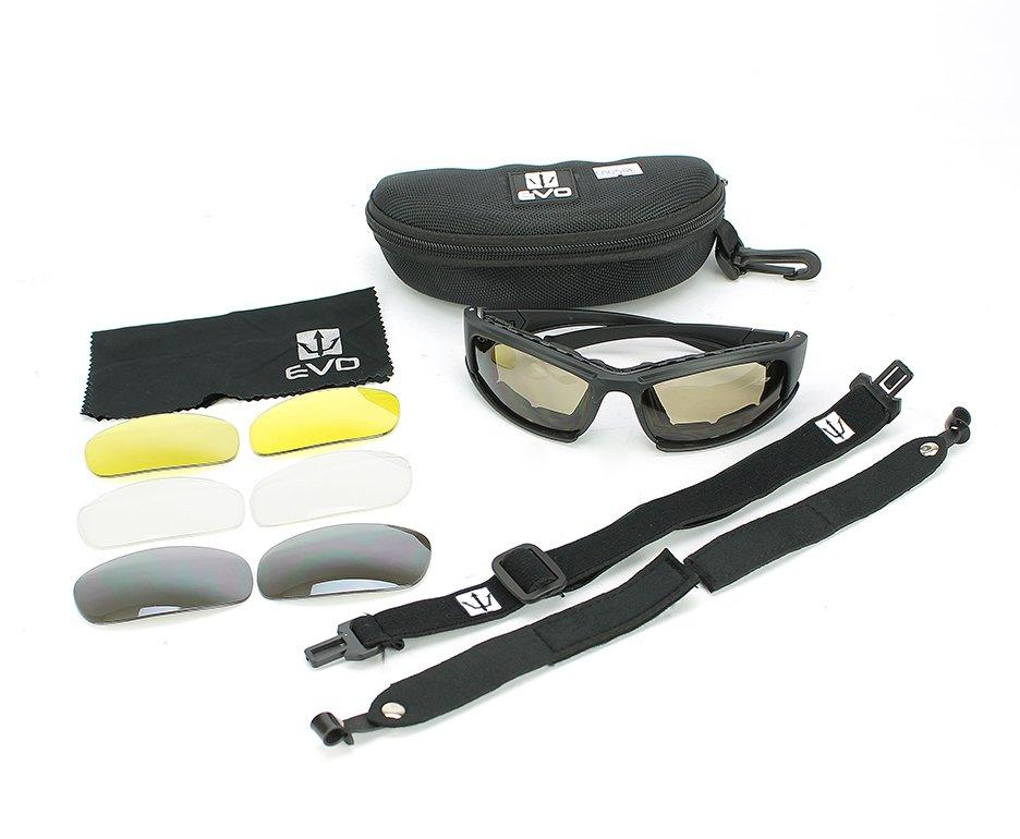 óculos De Proteção Para Tiro Com 4 Lentes Set Sport Glasses - Evo Tactical