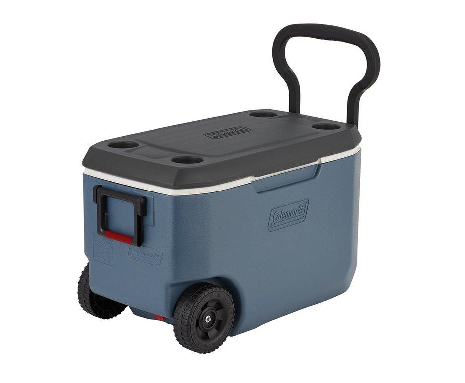 Caixa Térmica Coleman 62qt/58l Xtreme 5 Wheeled Cooler Azul Com Rodas
