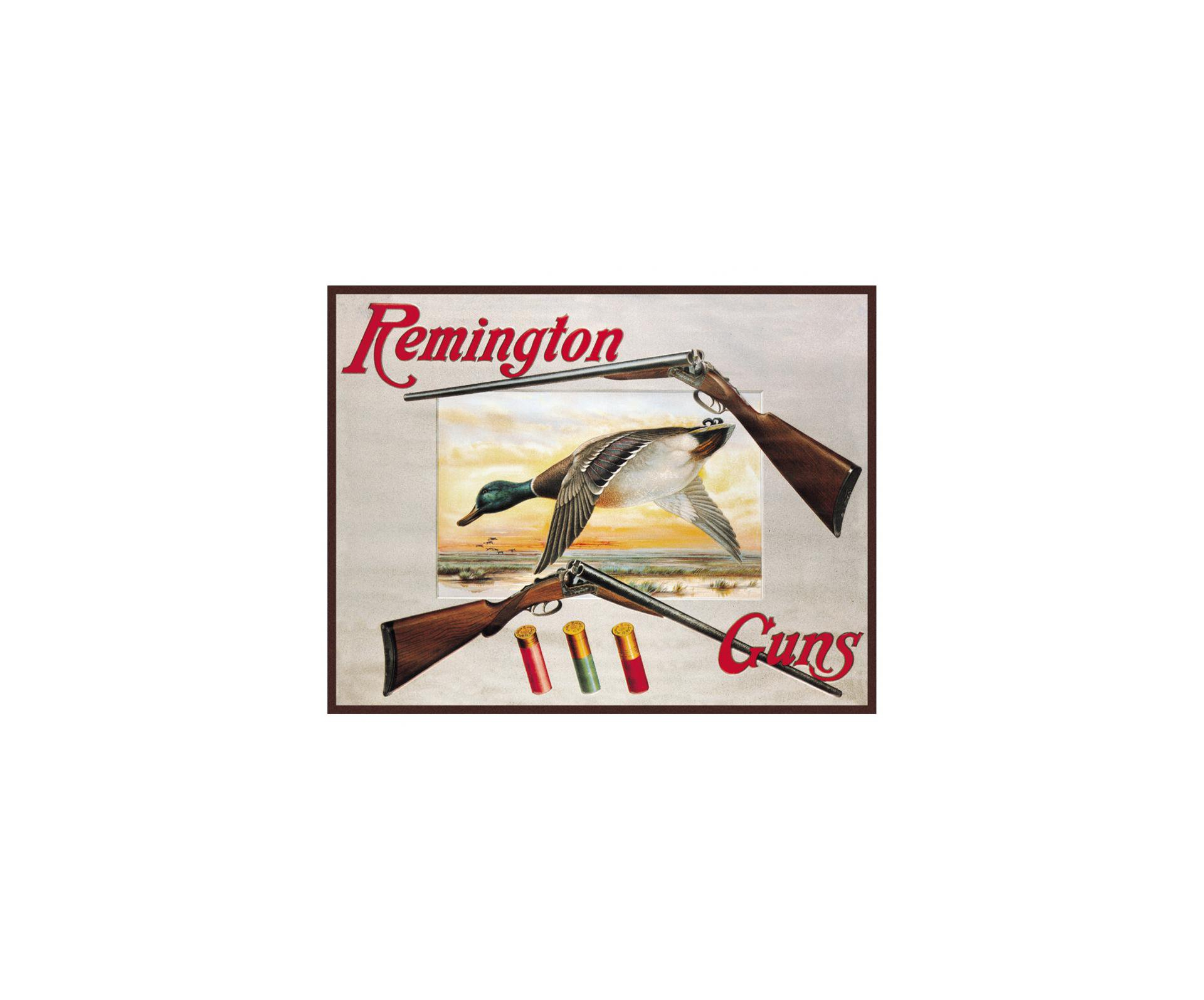 Placa Metálica Decorativa Remington Guns - Rossi