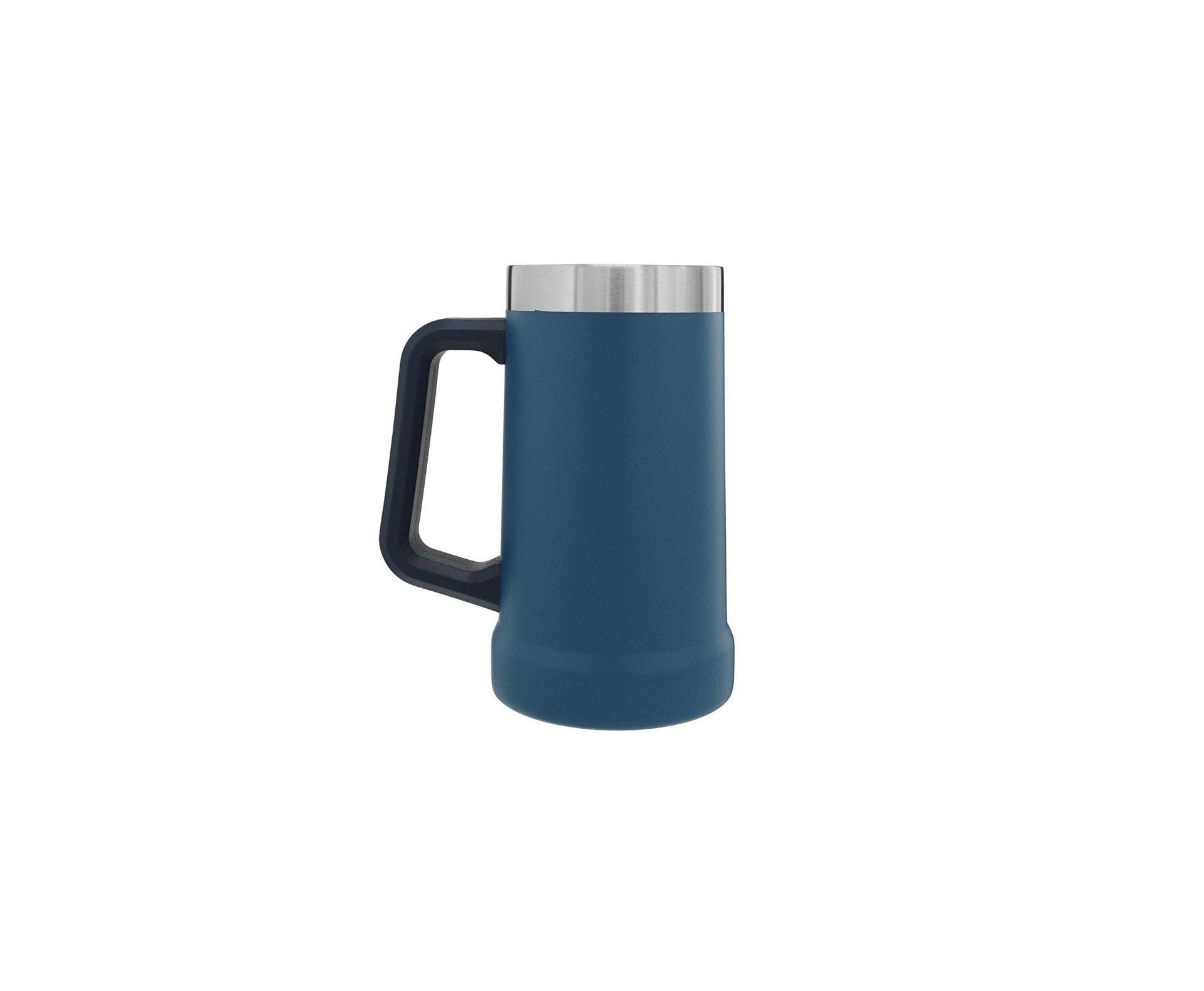 Caneca Térmica De Cerveja Stanley Classic 709 Ml Azul Abyss