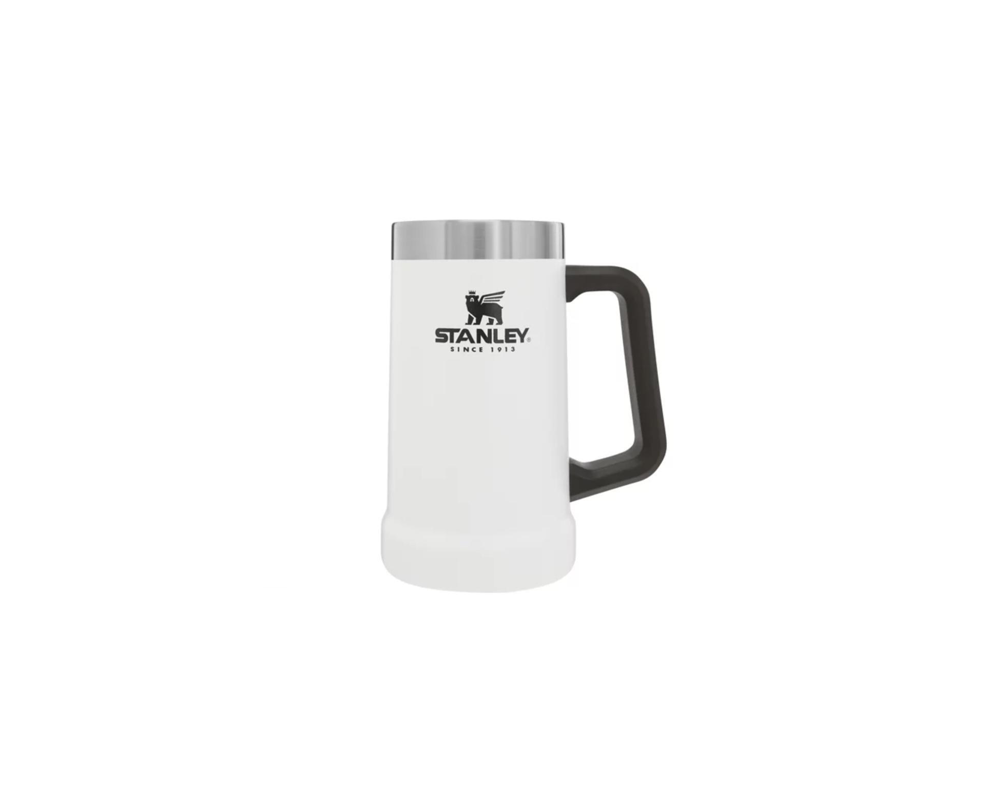Caneca Térmica De Cerveja Stanley Classic 709 Ml Branco Polar