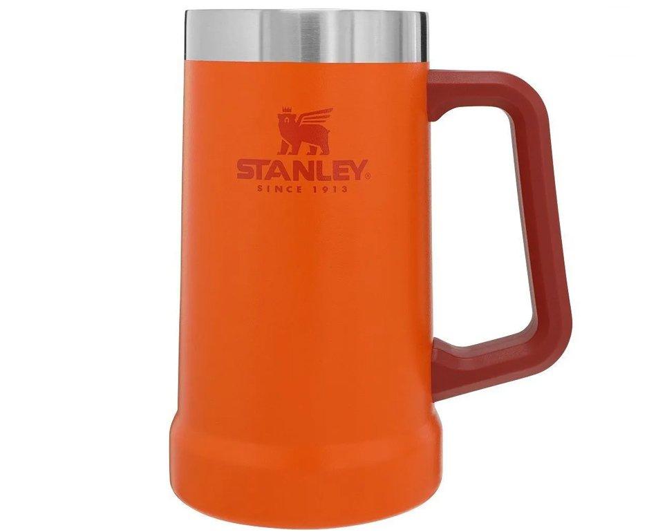 Caneca Térmica De Cerveja Stanley Classic 709 Ml Laranja