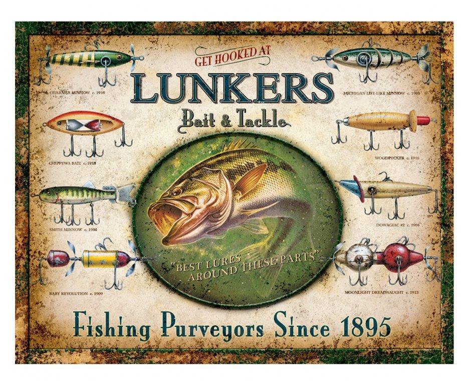 Placa Metálica Decorativa Lunkers - Rossi