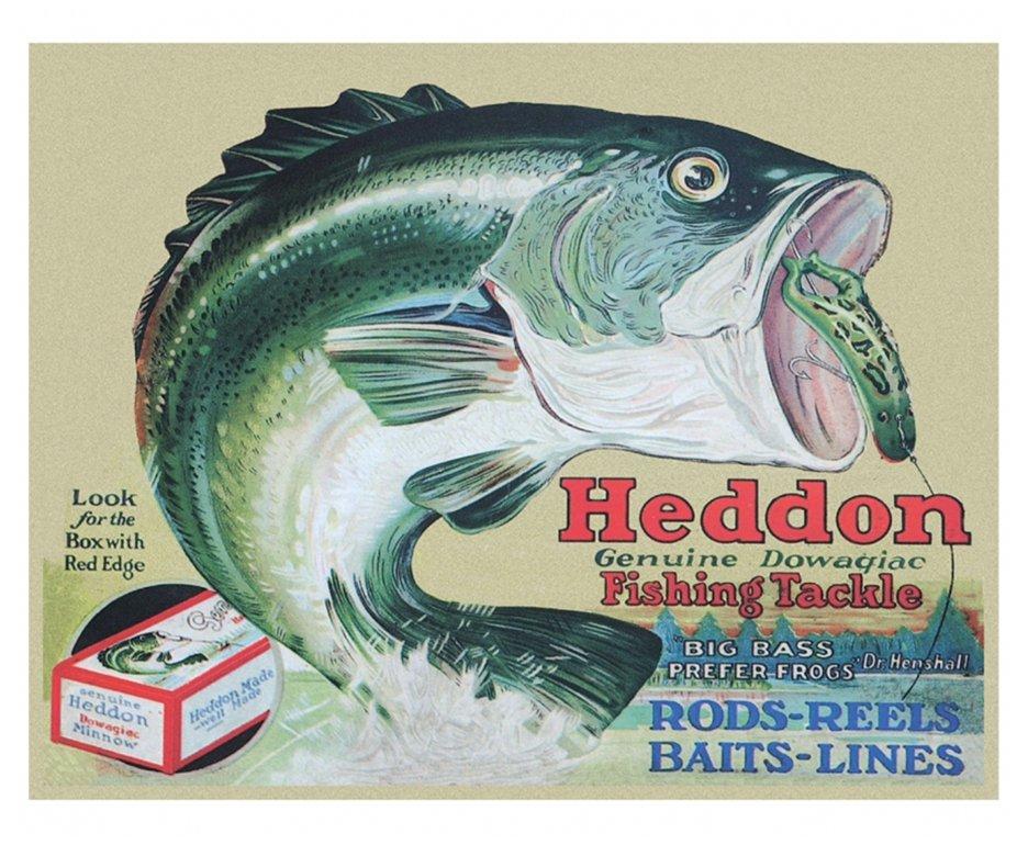 Placa Metálica Decorativa Heddon - Rossi