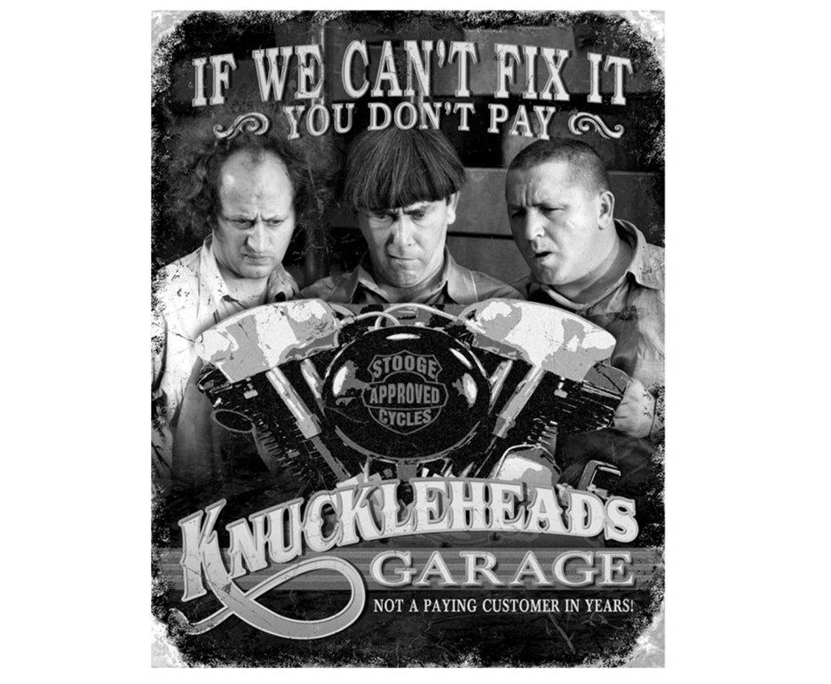 Placa Metálica Decorativa Stooges Knuckleheads - Rossi