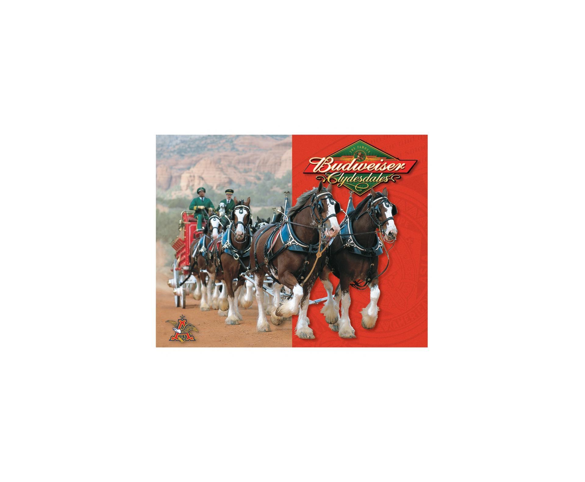 Placa Metálica Decorativa Budweiser Horse - Rossi