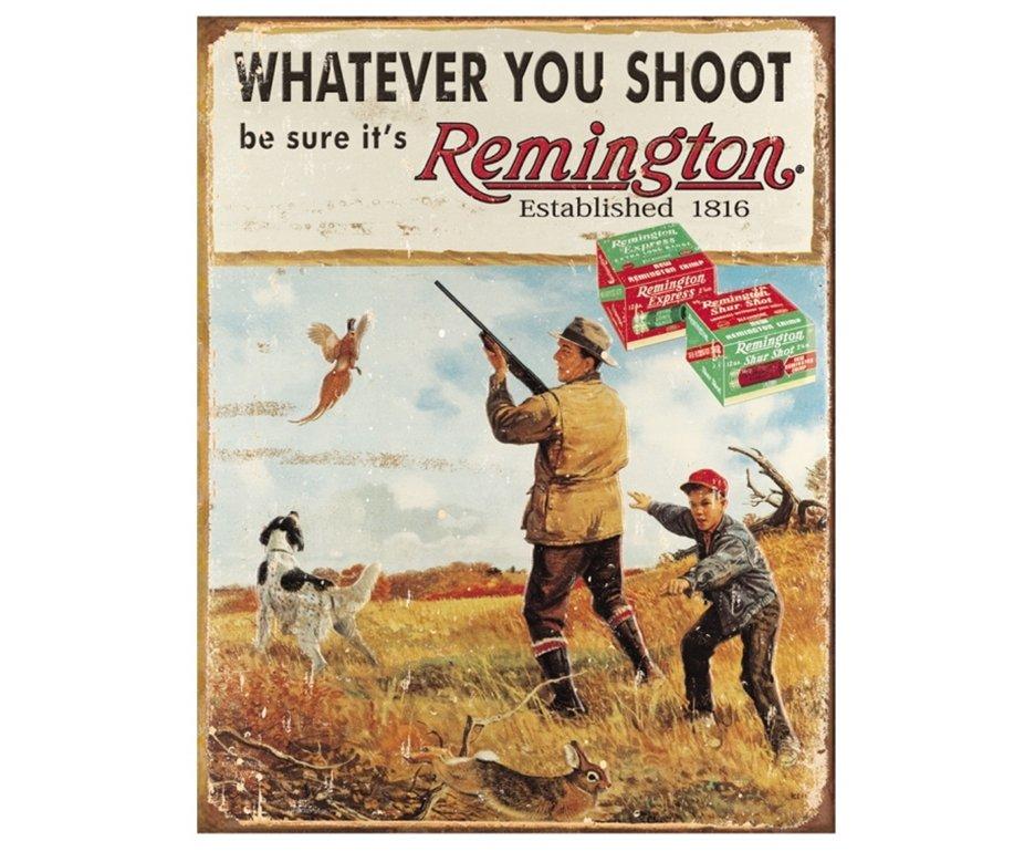 Placa Metálica Decorativa Remington Whatever - Rossi