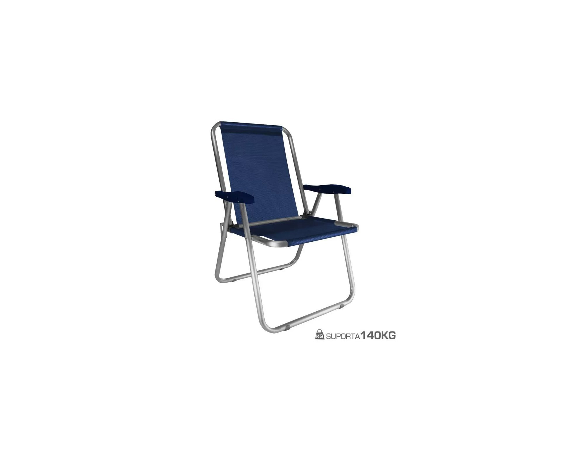 Cadeira Zaka Max Alumínio Azul Marinho Capacidade 140kg