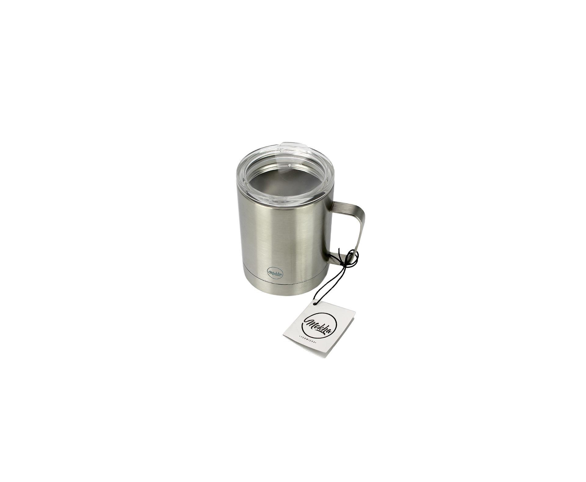 Caneca Térmica Mugy Inox 300ml Silver Cerveja Chopp Café - Mokha