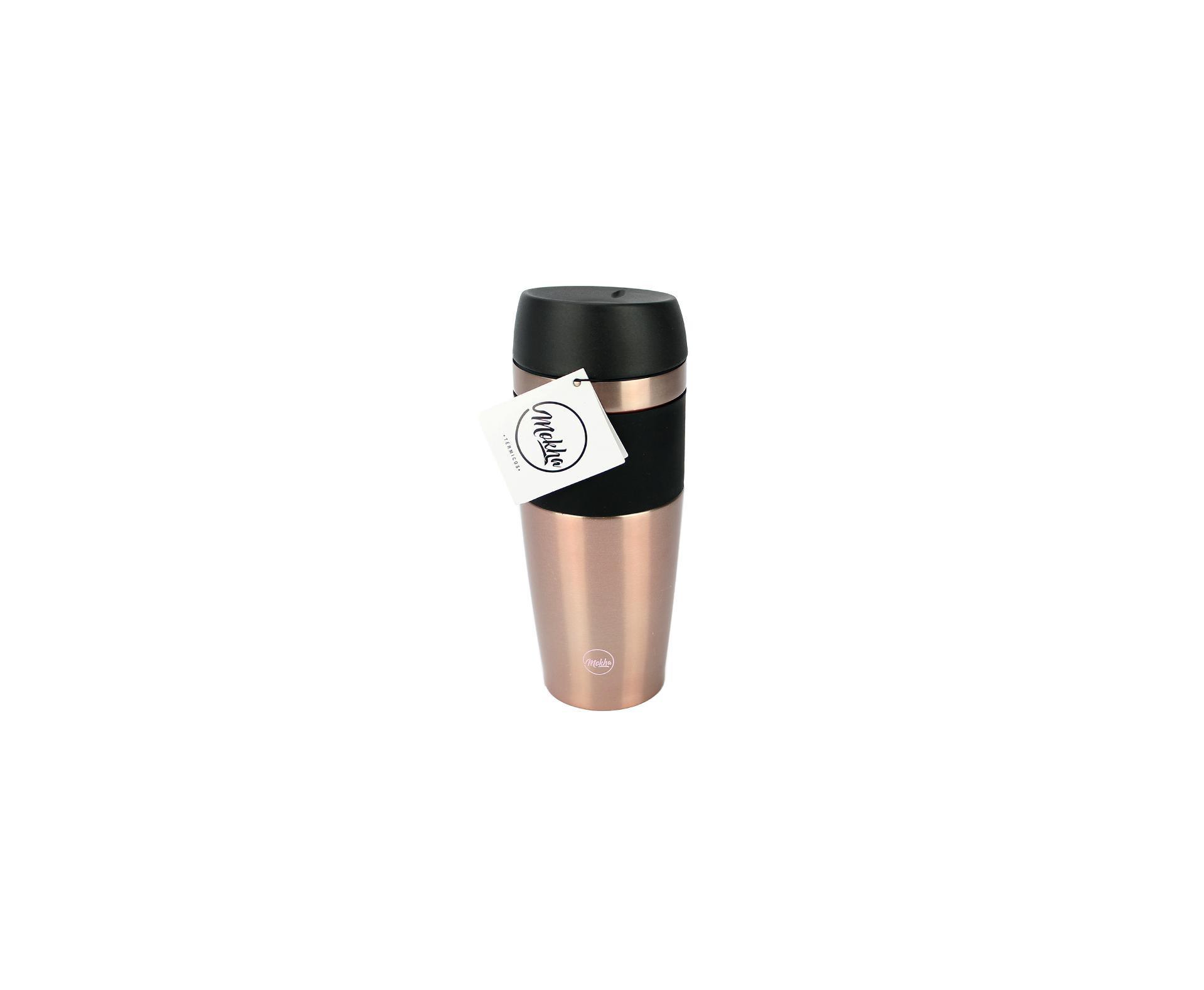 Copo Térmico Rub Inox 450ml Com Tampa Rose Gold - Mokha