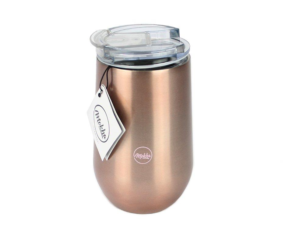 Copo Térmico Belli Inox 450ml Cerveja Chopp Drink Rose Gold - Mokha