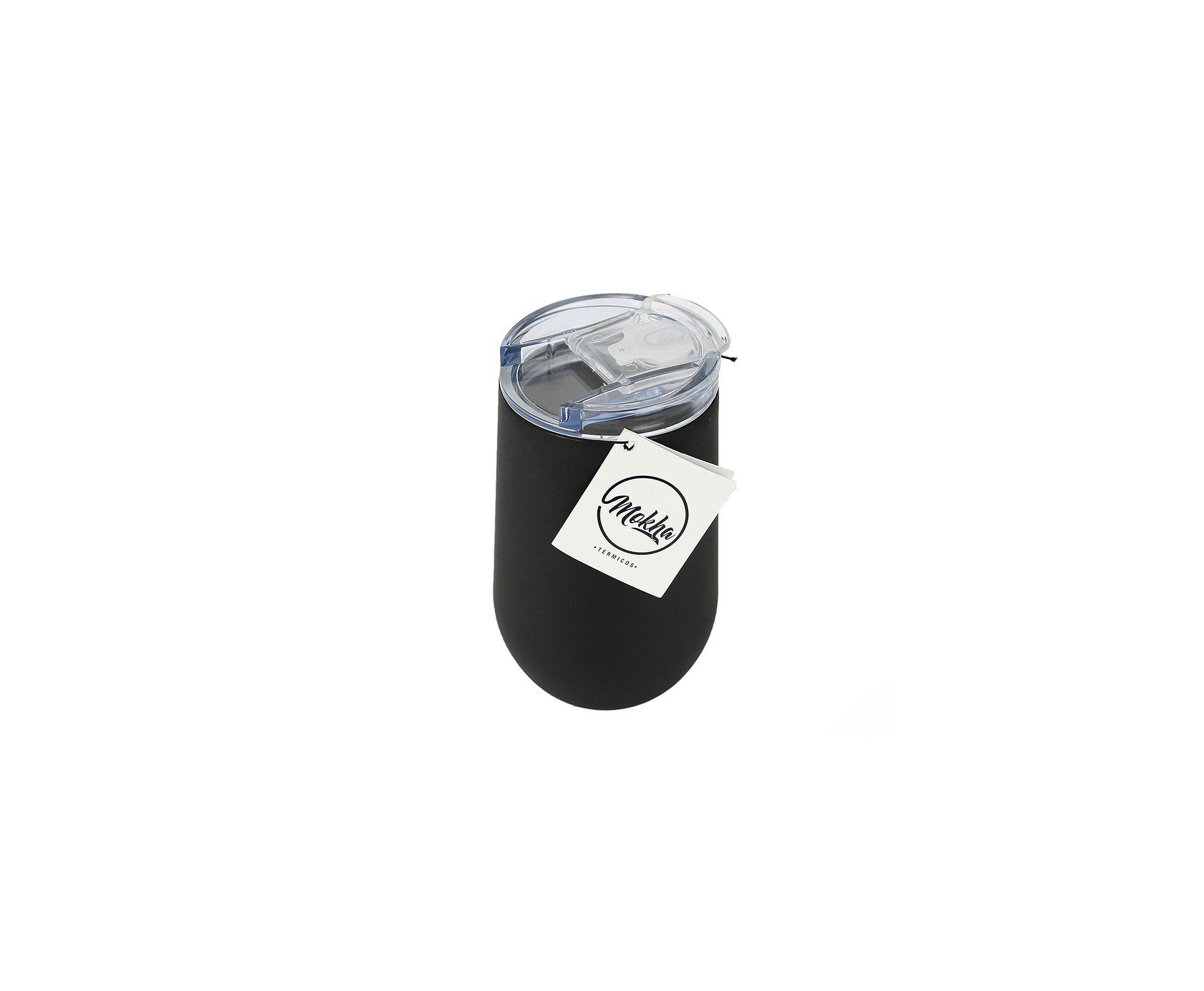 Copo Térmico Belli Inox 450ml Cerveja Chopp Drink Preto - Mokha