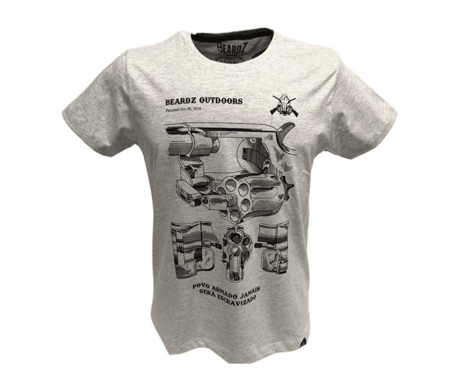Camiseta Beardz Masculina Revólver Ts29