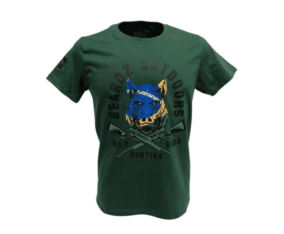 Camiseta Masculina Beardz Javali Wild Boar Brasil Ts38