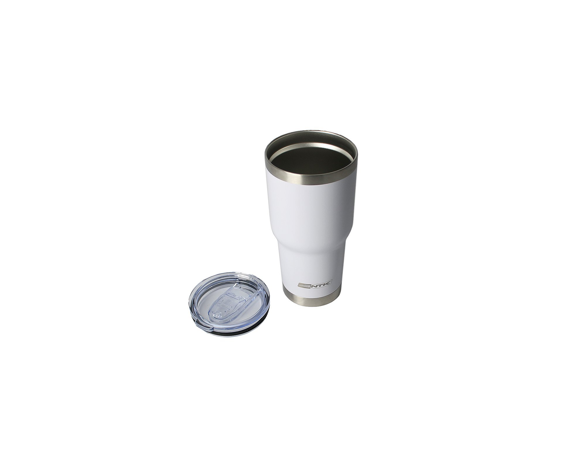 Copo Térmico Inox Nautika Siluet Branco 850 Ml + 02 Canudos Metal + Escova Limpeza