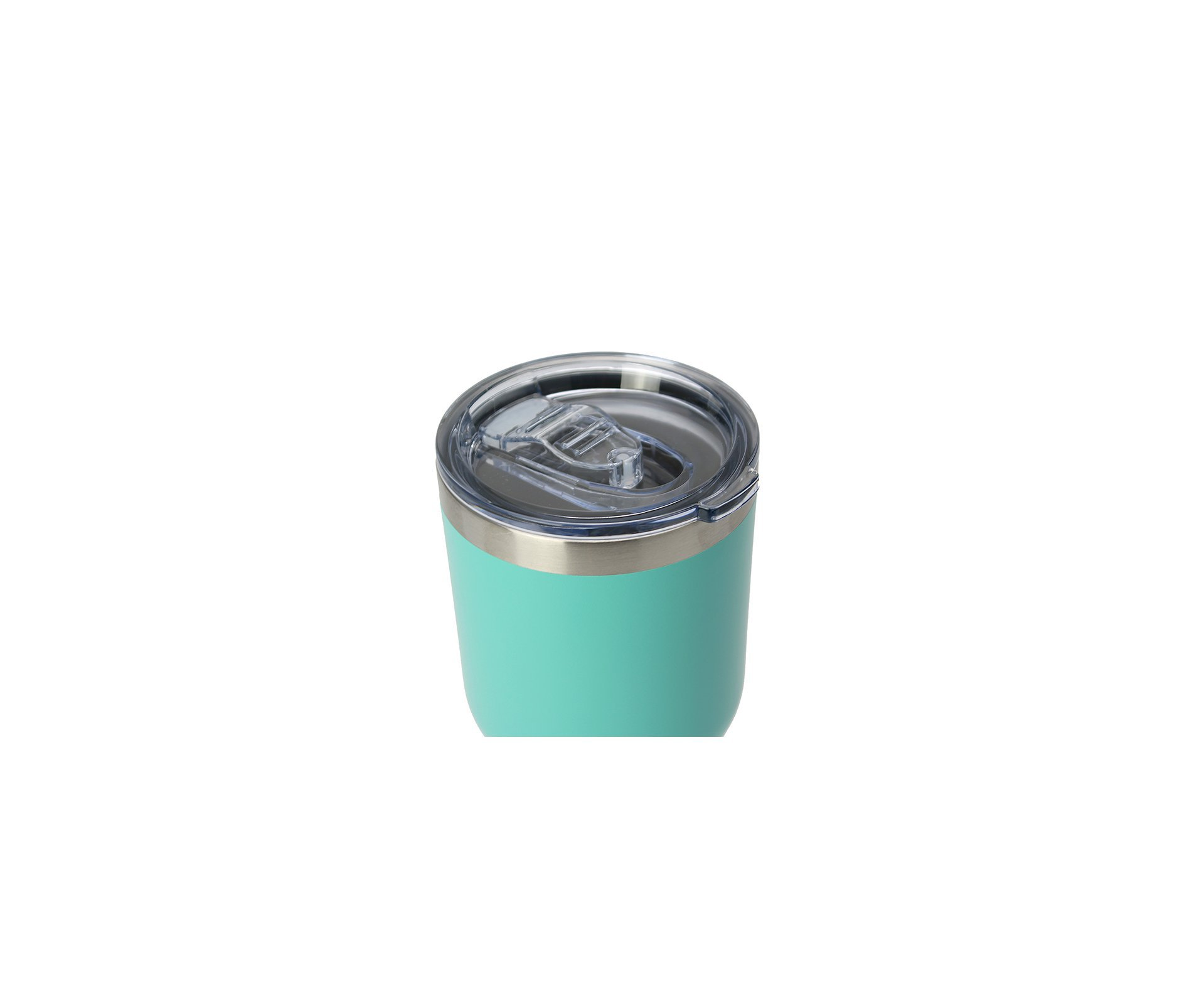 Copo Térmico Inox Nautika Siluet Turquesa 850 Ml + 02 Canudos Metal + Escova Limpeza