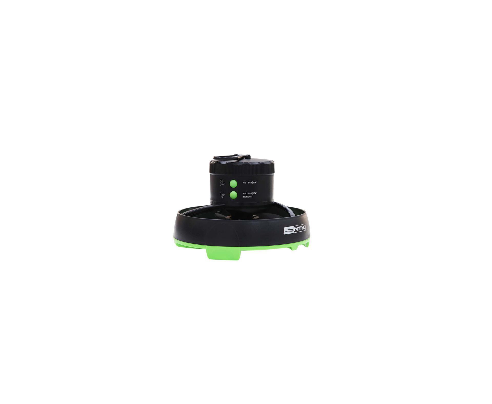 Mini Ventilador Portatil para Barraca com Luminaria - Nautika