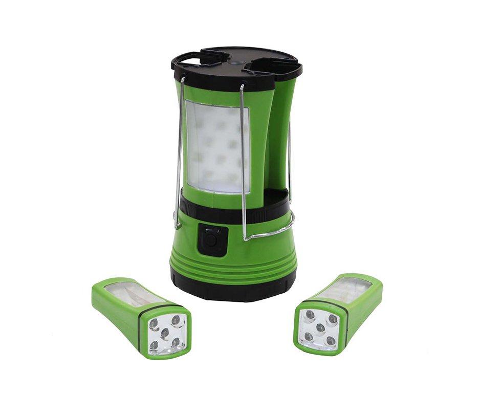 Lampião Team Camping de Led + 02 Lanterna de mão - Nautika