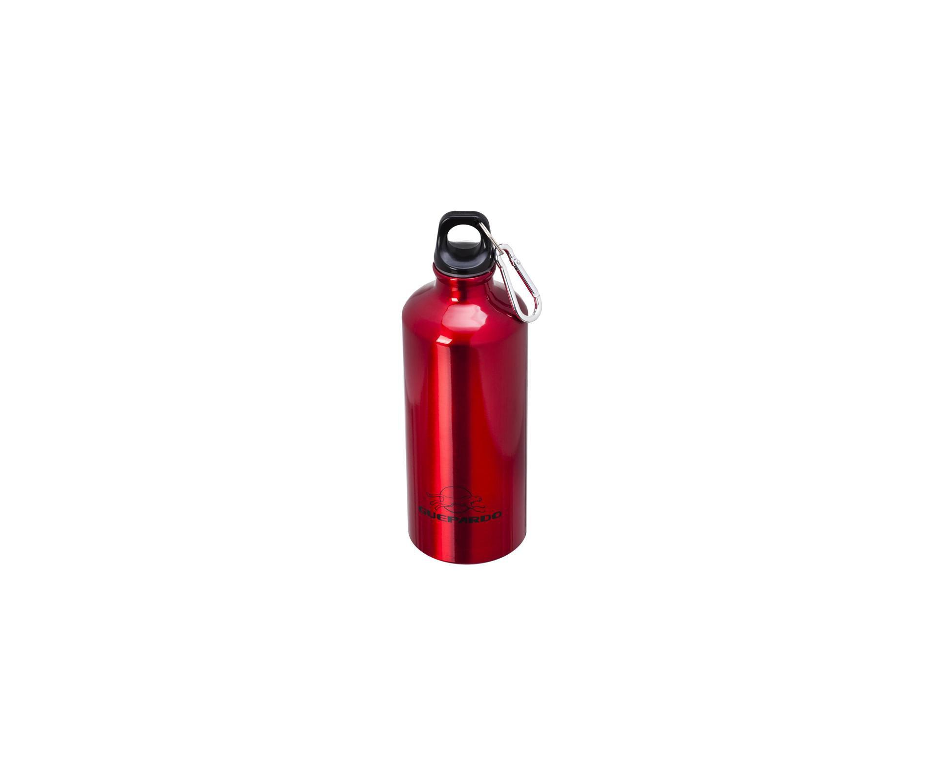 Garrafa Esportiva Vermelha De Alumínio 600 Ml - Guepardo