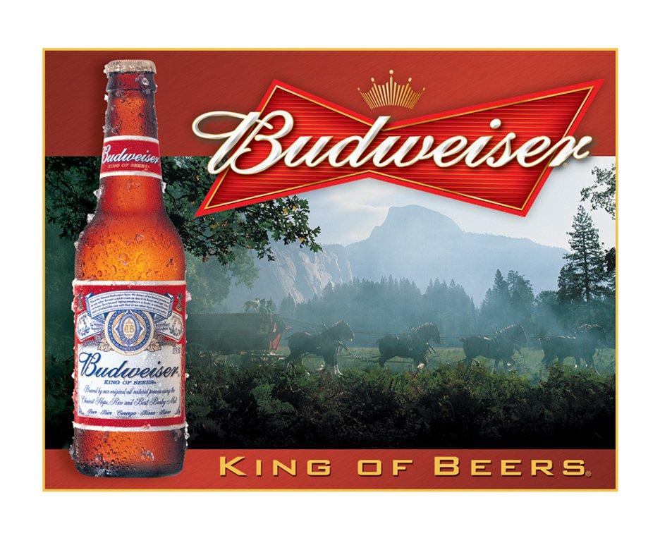 Placa Metálica Decorativa Budweiser King Of Beers - Rossi