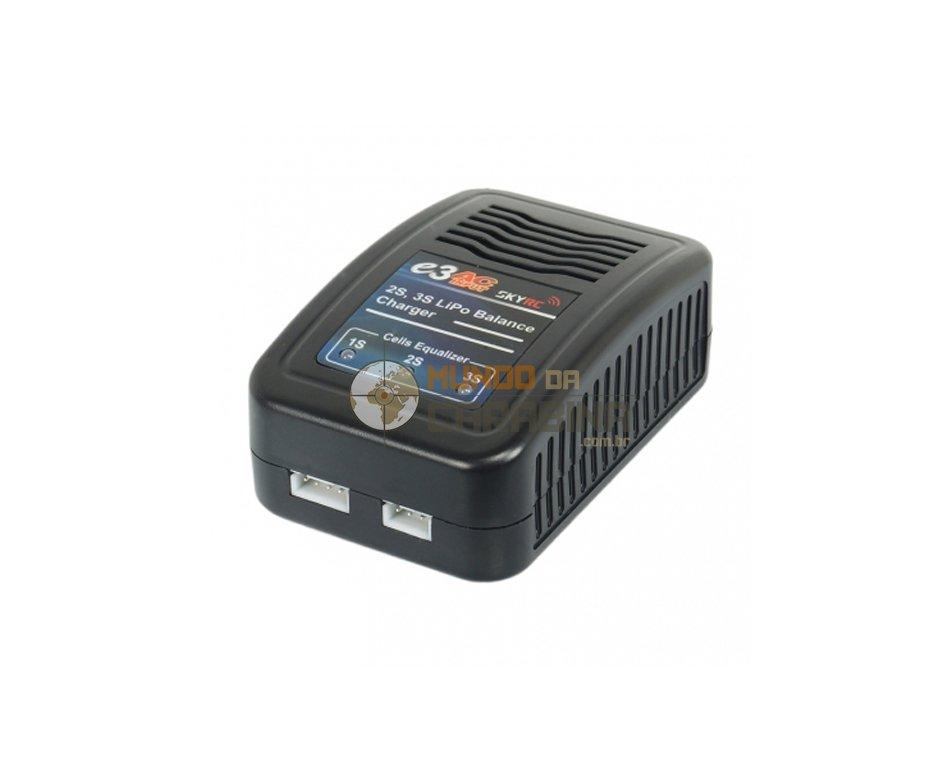 Recarregador Sky Rc E3 Original Para Bateria Lipo 2s/3s 7.4/11v 100-240v Sk-100081