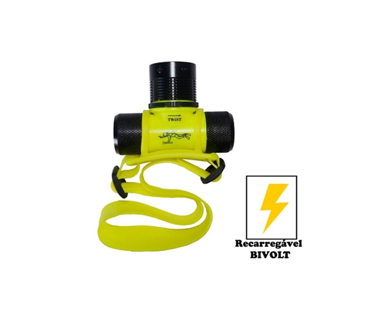 Lanterna De Cabeça Mergulho Atoll - Guepardo