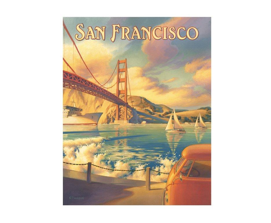 Placa Metálica Decorativa San Francisco - Rossi