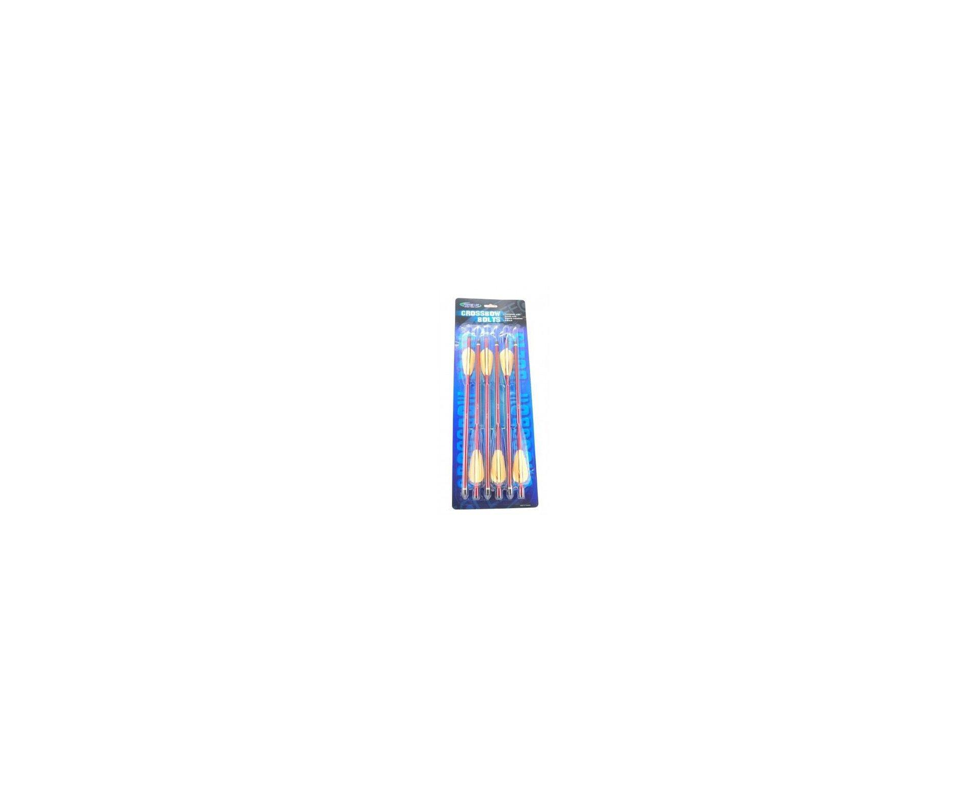 """Kit Com 06 Flechas De Alumínio 16"""" Para Besta - Vermelha / Preta"""