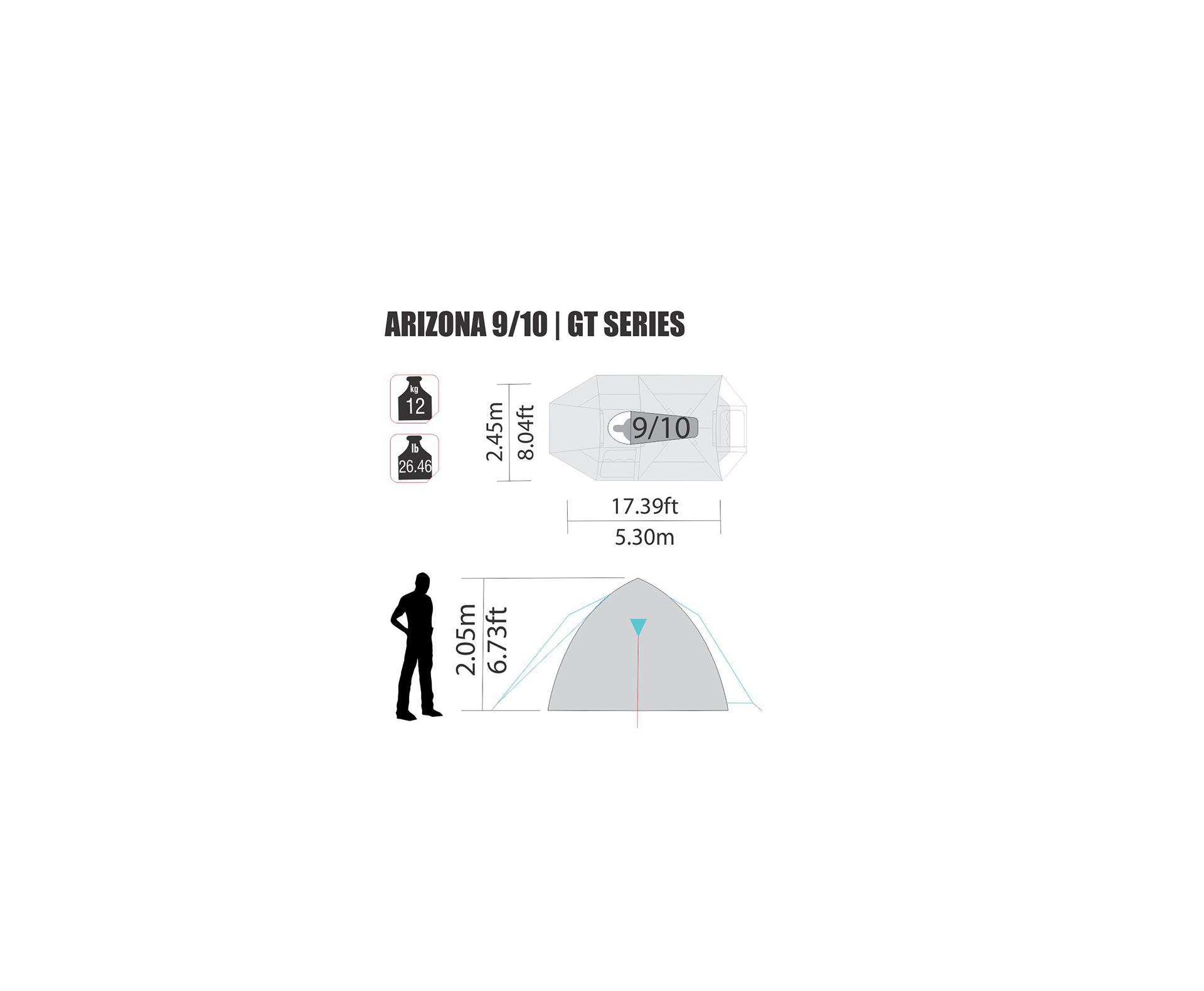 Barraca Arizona Gt 9/10 Pessoas - Nautika
