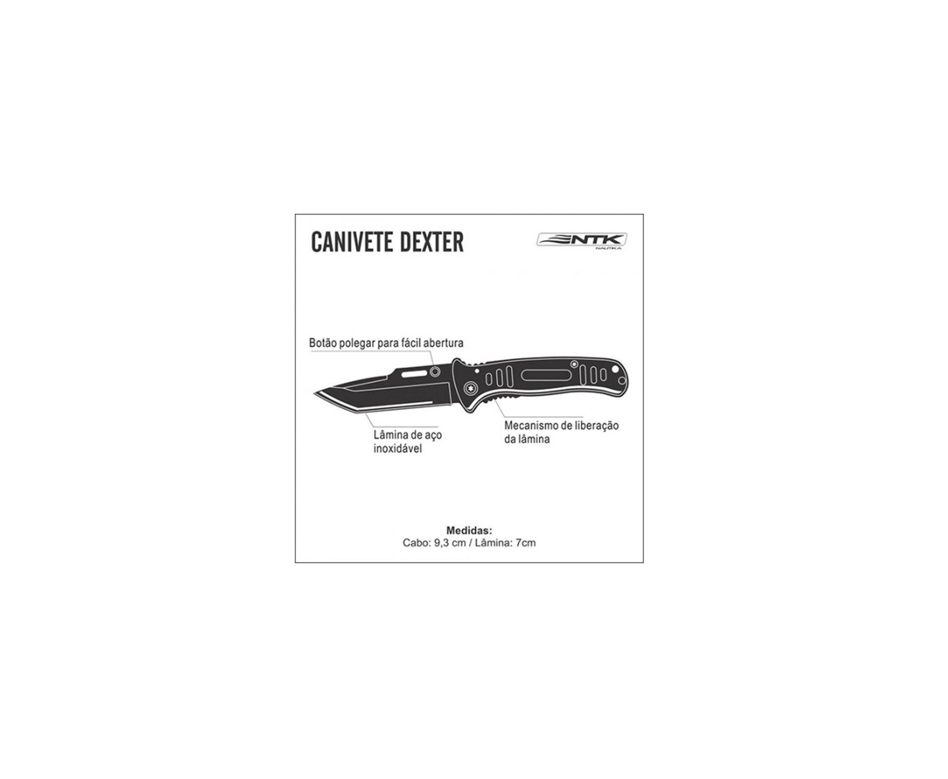 Canivete Dexter Preto - Nautika