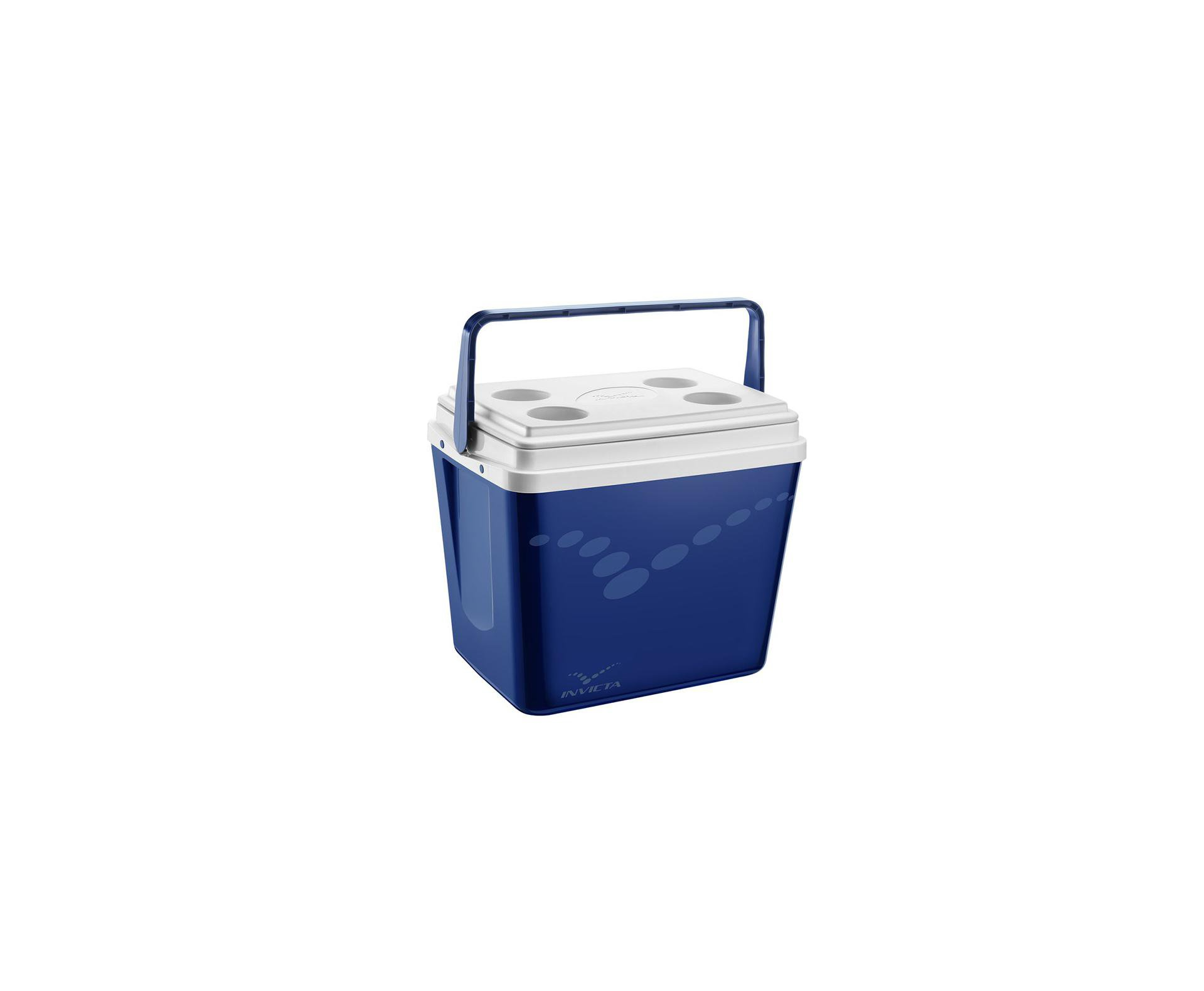 Caixa Termica Invicta 34 Litros Azul Com Alça