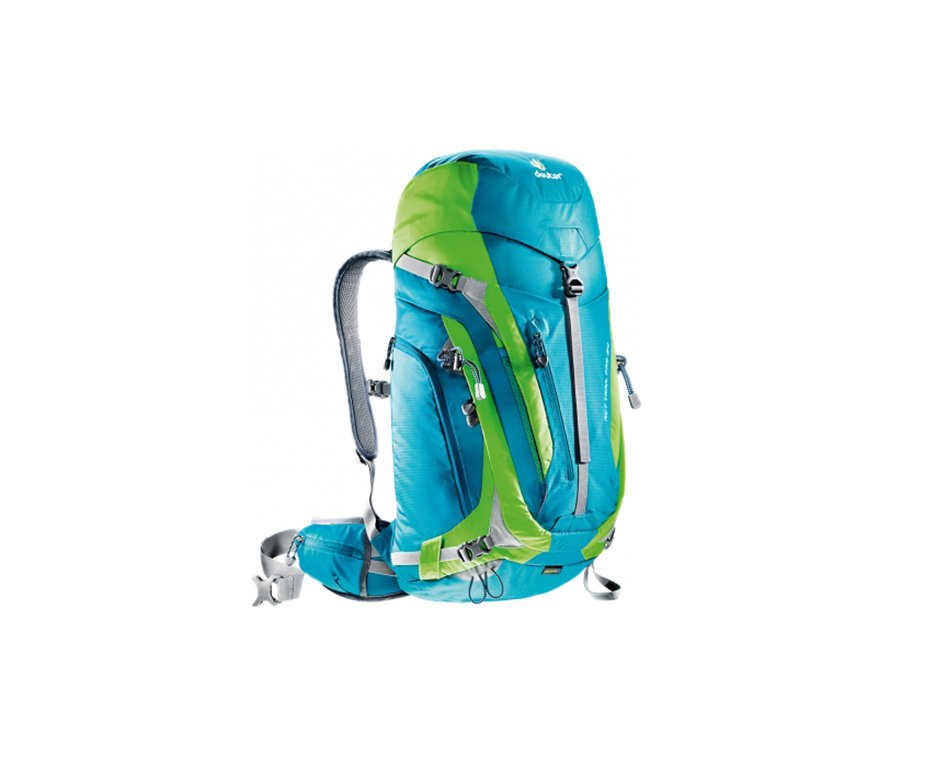 Mochila Act Trail Pro 34 Lts Azul/verde - Deuter