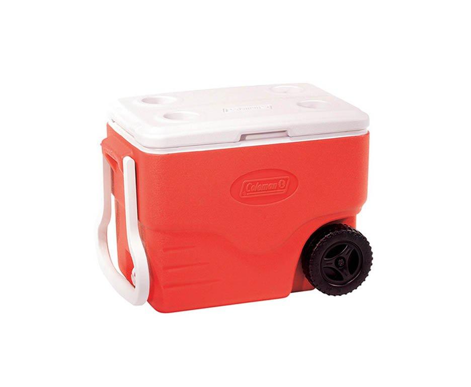 Caixa Térmica Coleman Com Rodas 40 Qt (38 Lts) - Vermelha