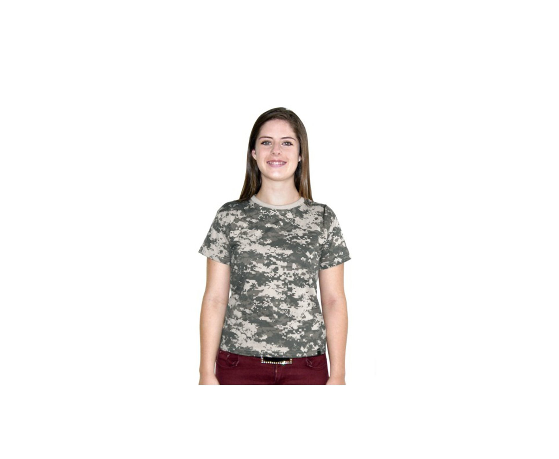 Baby Look Camuflada Digital Army Combaty Camuflado Digital - Bravo