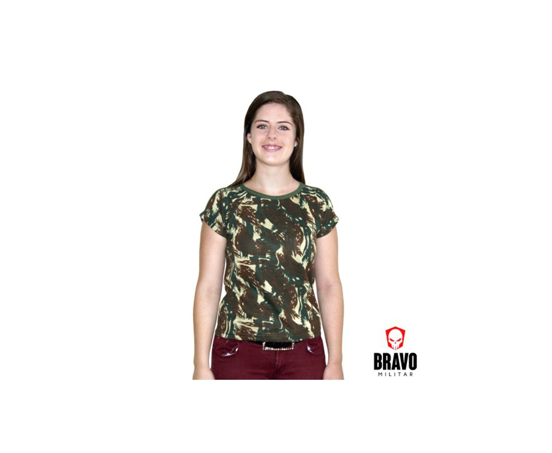 Baby Look Camuflada Exercito 2 - Bravo